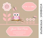 baby shower card for baby boy ... | Shutterstock .eps vector #143484214