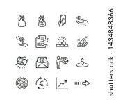 receivables line icons. set of... | Shutterstock .eps vector #1434848366