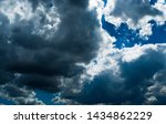 blue sky background with... | Shutterstock . vector #1434862229