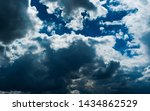 blue sky background with... | Shutterstock . vector #1434862529