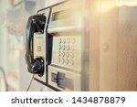 metal public telephone box... | Shutterstock . vector #1434878879