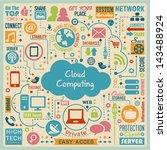 cloud computing design elements.... | Shutterstock .eps vector #143488924