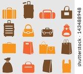 bag icons set. vector | Shutterstock .eps vector #143488948