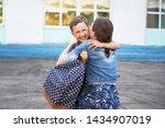 back to school. happy mother...   Shutterstock . vector #1434907019