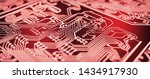 red circuit board background.... | Shutterstock . vector #1434917930