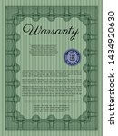 green vintage warranty template.... | Shutterstock .eps vector #1434920630