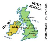 map of united kingdom of great... | Shutterstock .eps vector #1434924536