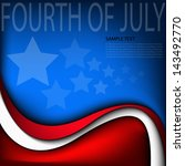 fourth of july background... | Shutterstock .eps vector #143492770