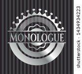monologue silvery emblem.... | Shutterstock .eps vector #1434934223
