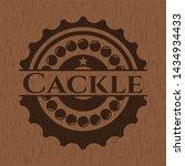 cackle vintage wooden emblem.... | Shutterstock .eps vector #1434934433