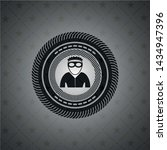 thief icon inside black emblem. ... | Shutterstock .eps vector #1434947396