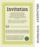yellow vintage invitation... | Shutterstock .eps vector #1434947480