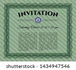 green retro vintage invitation. ... | Shutterstock .eps vector #1434947546