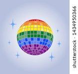 disco ball vector icon disco... | Shutterstock .eps vector #1434950366