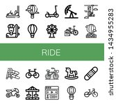 set of ride icons such as... | Shutterstock .eps vector #1434955283