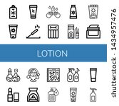 set of lotion icons such as... | Shutterstock .eps vector #1434957476