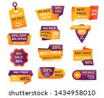 set of retail sale tags.... | Shutterstock .eps vector #1434958010