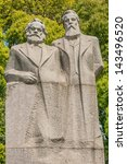 marx and engels statue in... | Shutterstock . vector #143496520