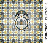 buildings icon inside arabic... | Shutterstock .eps vector #1434965810