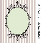 black floral frame with copy... | Shutterstock . vector #143499010