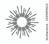 vintage hand drawn sunburst... | Shutterstock .eps vector #1435009613