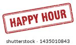 happy hour square grunge... | Shutterstock .eps vector #1435010843