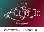 authentic. lettering print on... | Shutterstock .eps vector #1435012073