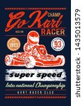 car racing vintage typography... | Shutterstock .eps vector #1435013579