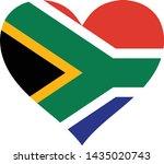 a flag illustration of a heart... | Shutterstock .eps vector #1435020743