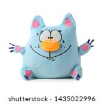 Funny Blue Toy Cat Isolated On...