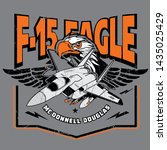 mcdonnell douglas f 15 eagle  ... | Shutterstock .eps vector #1435025429