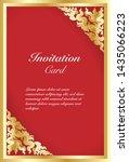 vector of invitation card... | Shutterstock .eps vector #1435066223