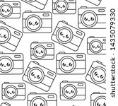pattern of photographic cameras ... | Shutterstock .eps vector #1435079330