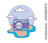 photographic camera kawaii in...   Shutterstock .eps vector #1435081673
