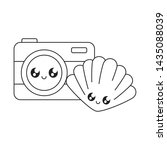 photographic camera with...   Shutterstock .eps vector #1435088039
