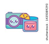 photographic camera with... | Shutterstock .eps vector #1435089293