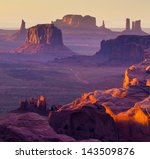 Hunt's mesa  monument valley  ...