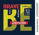 vintage typography slogan tee ... | Shutterstock .eps vector #1435100399