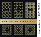 geometric pattern with label ... | Shutterstock .eps vector #1435100636