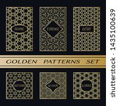 geometric pattern with label ... | Shutterstock .eps vector #1435100639