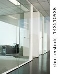 Office Interior With Glass...
