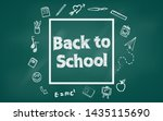 welcome back to school with... | Shutterstock .eps vector #1435115690