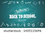 welcome back to school with... | Shutterstock .eps vector #1435115696