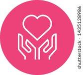 hands holding heart outline icon | Shutterstock .eps vector #1435128986