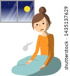 illustration of a sleepless... | Shutterstock .eps vector #1435137629