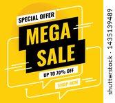 sale banner design. mega sale...   Shutterstock .eps vector #1435139489