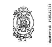 monogram victorian vintage... | Shutterstock .eps vector #1435151783
