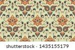 seamless pattern based on... | Shutterstock .eps vector #1435155179