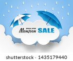 monsoon  rainy season sale... | Shutterstock .eps vector #1435179440