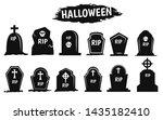 black shadow grave icon set...   Shutterstock .eps vector #1435182410